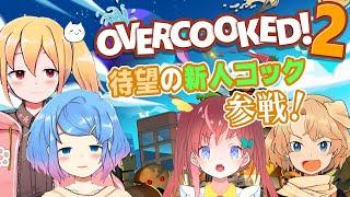 【Overcooked!】笑顔あふれるアットホームな職場に新人コックが!