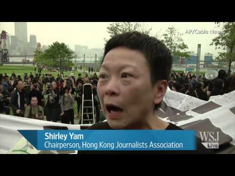 Thousands March to Support Press Freedom in Hong Kong