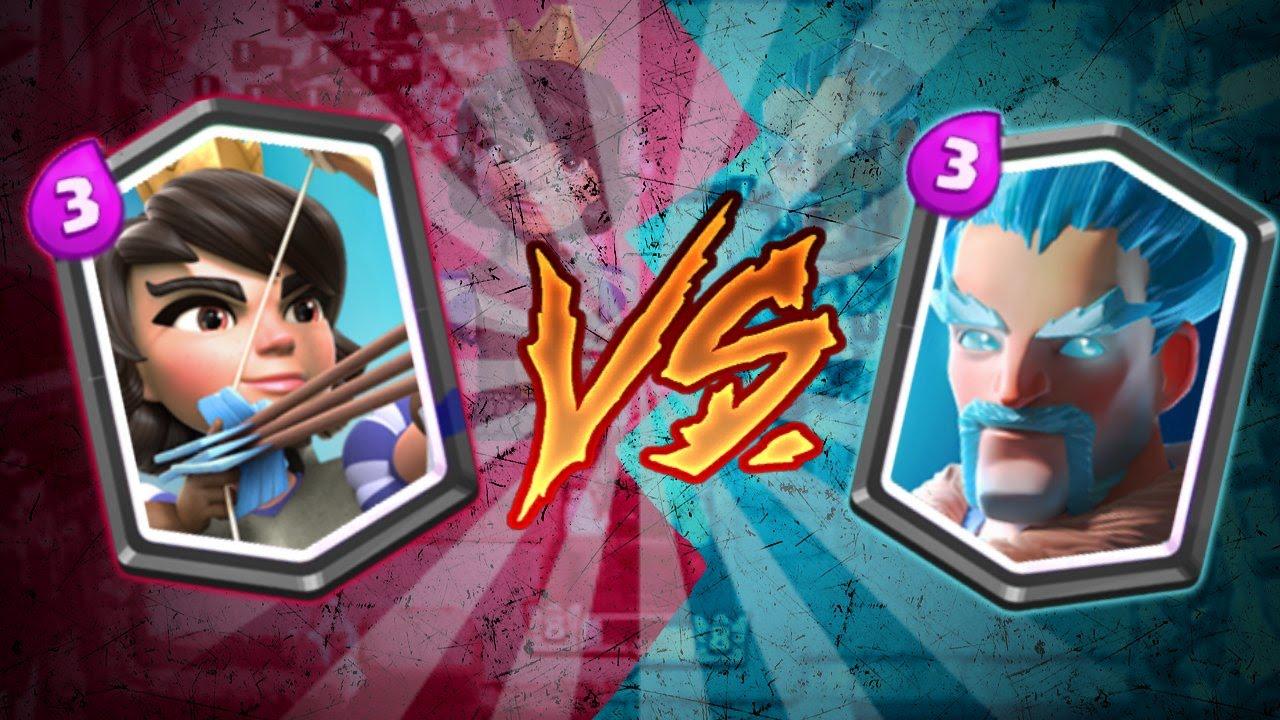 Clash royale fr sorcier de glace vs princesse quel est for Deck clash royale sorcier de glace