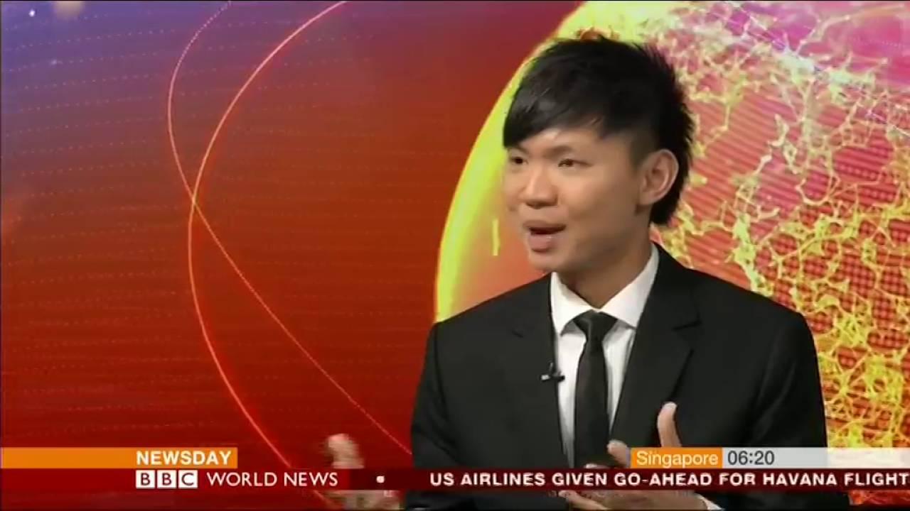 BBC World News Interviews Toastmasters World Champion of Public Speaking Darren Tay
