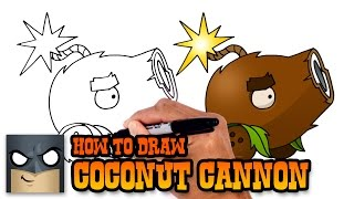 How to Draw Coconut Cannon | Plants vs Zombies