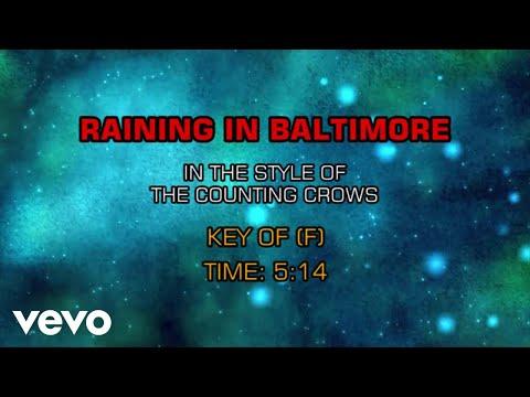 Counting Crows - Raining In Baltimore (Karaoke)
