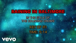 Counting Crows - Raining In Baltimore (Karaoke)