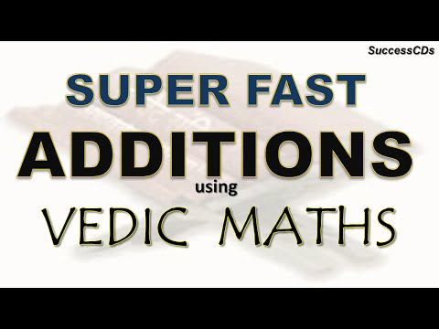 Vedic Maths Tricks - Super Fast Addition tricks using Vedic Maths - a few examples
