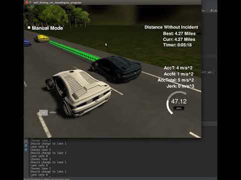 Udacity Self Driving Car Path Planning Project