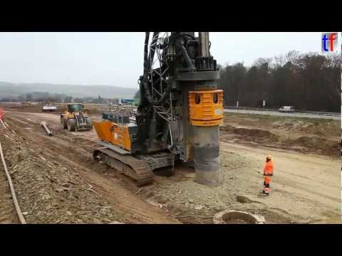 Liebherr LB28 DRILL on highway construction site, A8, Karlsbad, GERMANY. 2013