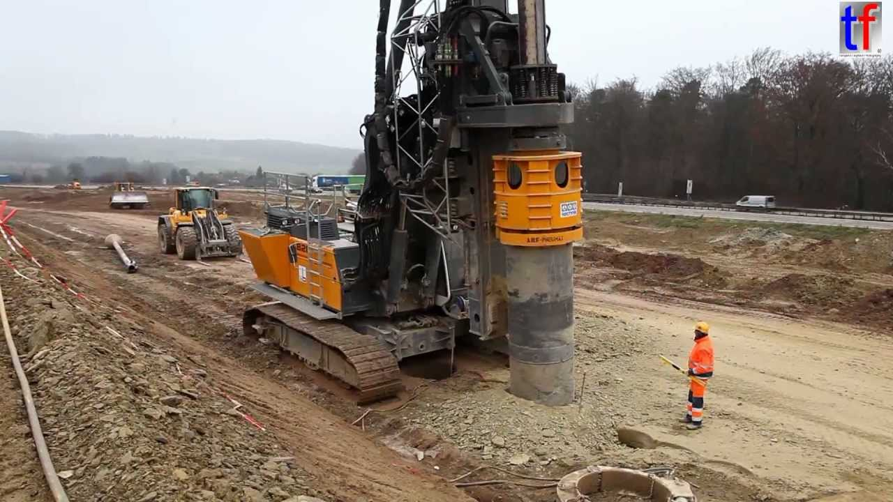 Liebherr Lb28 Drill On Highway Construction Site A8