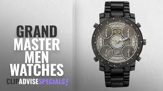 10 Best Selling Grand Master Men Watches [2018 ]: Grand Master 5 Time Zone 22 Diamonds Black Case