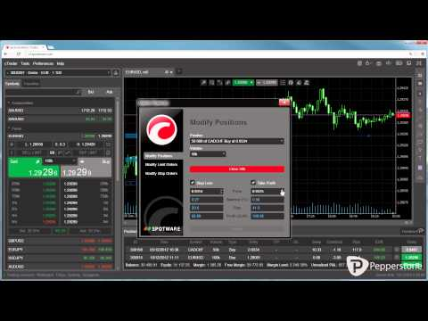 cTrader Web - Modify Orders and Positions