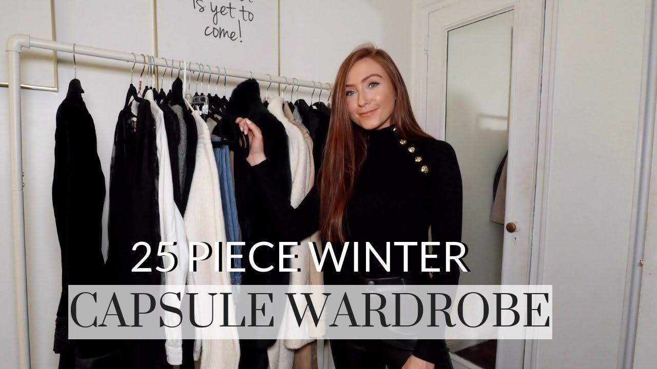 Capsule Wardrobe 2020 Fall.My 25 Piece Winter Capsule Wardrobe My 25 Piece Winter