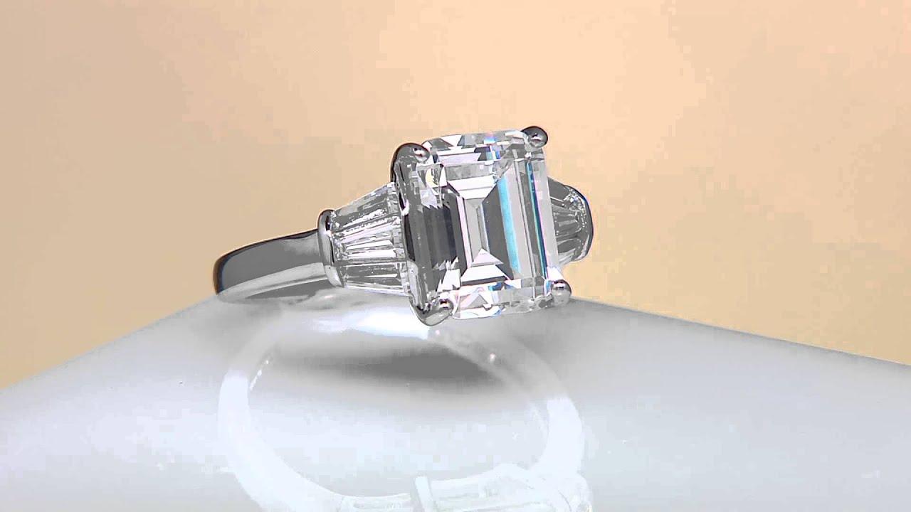 Epiphany Diamonique Emerald Cut Ring on QVC