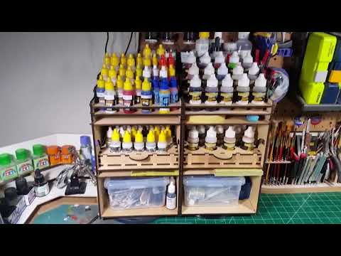 Neway Designs paint racks and organizers review and set up