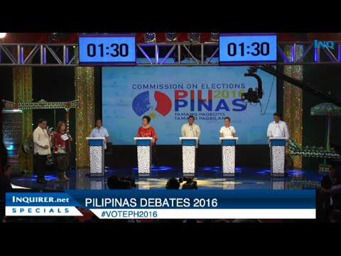 FULL VIDEO: Pilipinas Debates 2016 in Cagayan De Oro