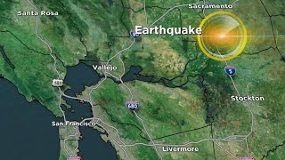 """Cbs san francisco station kpix reports on the 4.4 magnitude quake that shook northern california early thursday morning.subscribe to """"cbsn"""" channel here:..."""