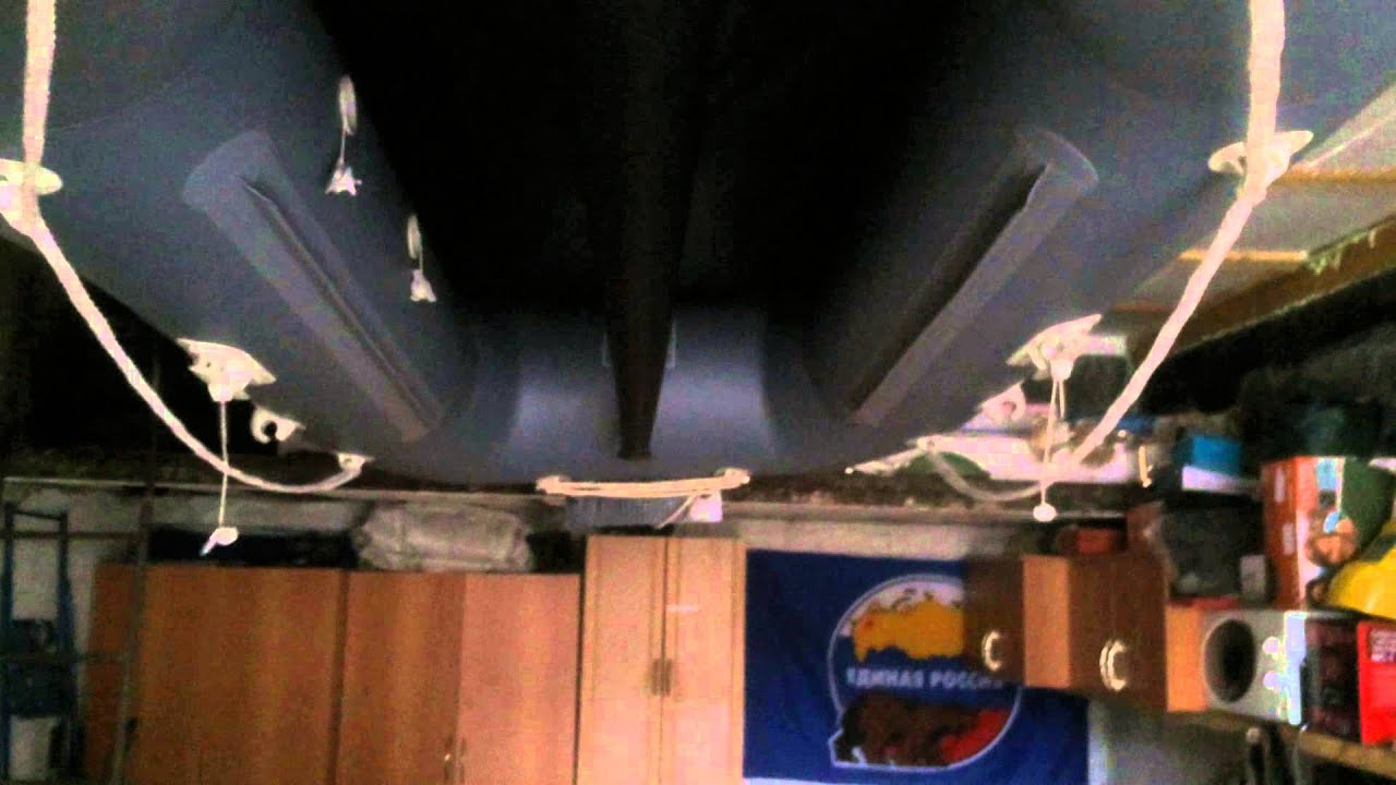 Хранение ПВХ лодки в гараже