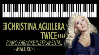 Download Lagu CHRISTINA AGUILERA - Twice KARAOKE (Piano Instrumental - Lower Key) Mp3
