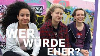 Wer würde eher?! GIRL CAVE 👩👩👧 |Auf Klo mit Eda Vendetta