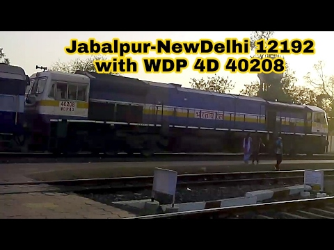 12192/ Jabalpur-New Delhi Shridham SF Express (PT) with WDP4D  40208 | Indian Railways