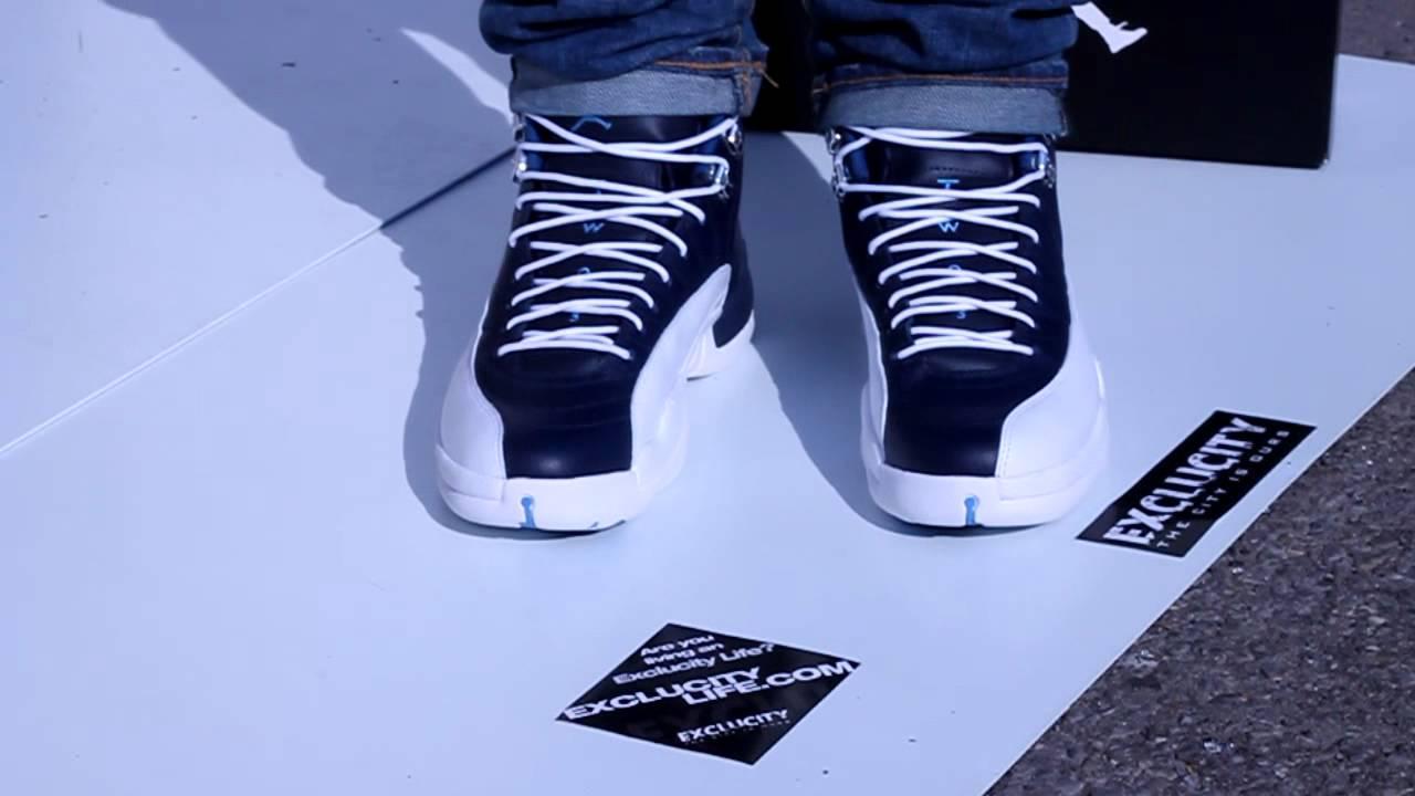 Air Jordan 12 Obsidian On Feet At Exclucity Youtube