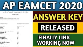AP EAMCET Answer Key 2020/How To Download AP EAMCET Answer Key 2020/AP EAMCET Answer Key Released.