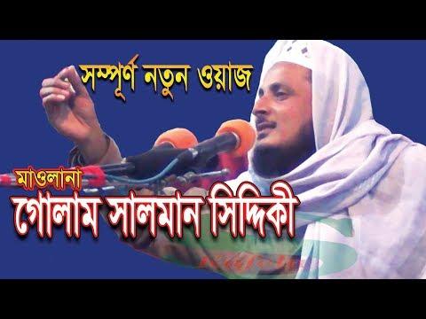Bangla Waz Mahfil 2018 By Maulana Golam Salman Siddiki (Furfura Sharif) || New Mahfil Banga Waz