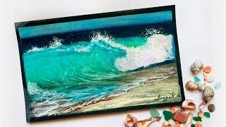 """Видео урок рисования пастелью """"Морской прибой"""" (Превью)"""