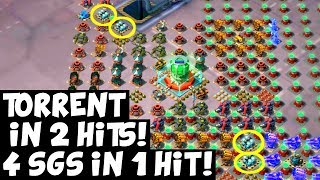 Torrent 2 Hits! ✦ 4 Shields in One Hit! ✦ Boom Beach