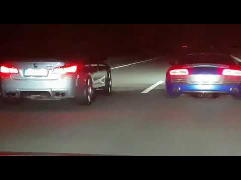 BMW M5 F10 Vs Audi R8 V10 Plus