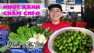 Ăn Nhót Xanh Chấm Chẩm Chéo Chuẩn Vị Đặc Sản Tây Bắc Tại Chợ Sơn La   TUNG TĂNG TV