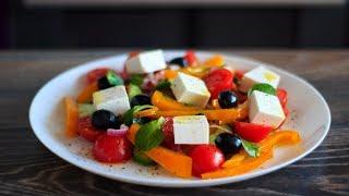ГРЕЧЕСКИЙ Салат Классический | Как приготовить греческий салат пошаговый рецепт | Greek salad recipe
