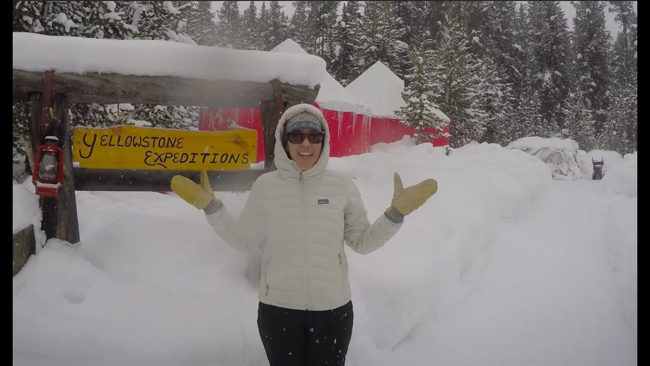 Ski and Snowshoe Fun in Yellowstone National Park at Yurt Camp