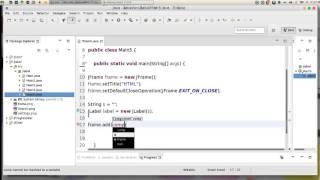 33 JAVA Swing GUI JLabel & HTML