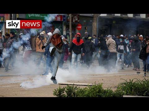 Three Colombian police killed in bomb blast