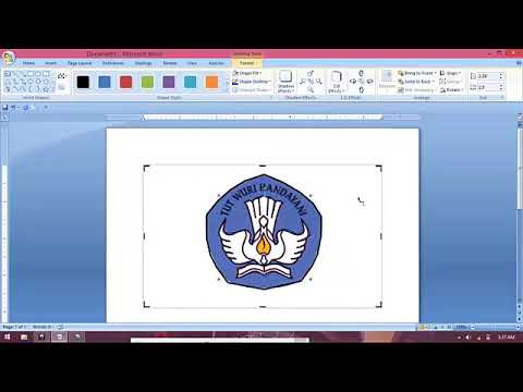 Tutorial Cara Mudah Membuat Logo Di Microsoft Word Youtube