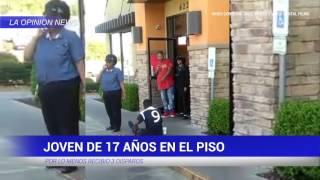 JOVEN DE 17 ANOS RECIBE 3 DISPAROS EN LITTLE ROCK