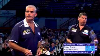 Beaton v Anderson | Quarter Final | Gibraltar Darts Trophy 2014