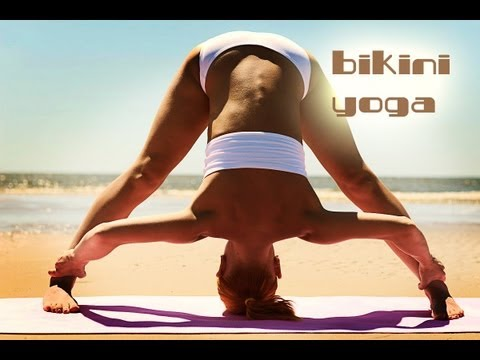 BIKINI YOGA WORKOUT | SUPER HOT LEGS | BEACH BODY