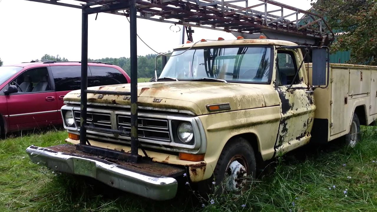 1971 ford f350 cherry picker lives again