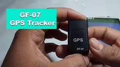 GF-07 Magnetic Mini GPS Real-time Tracking Locator - BLACK