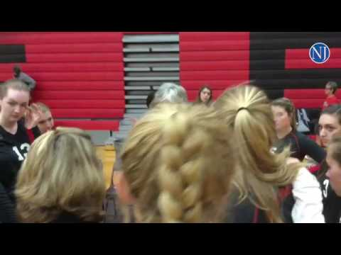 New Smyrna Beach High School girls volleyball team plays against Vanguard High in state semifinal ga