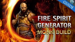 D3 RoS - Monk Fire Spirit Generator Build G60+ & T10 Patch 2.3