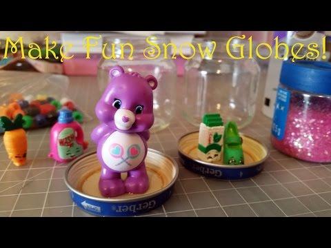 Mini Glitter Snow Globe Tutorial