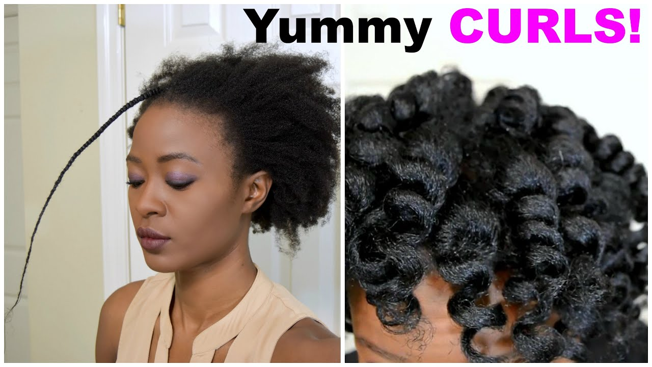 Yummy Heatless Curls on 4c Natural Hair Luxe Organix & Spoolies