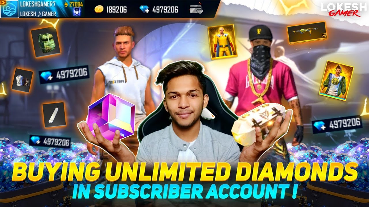 Buying Unlimited Diamonds In Subscribe Account First Time 😱😱😱 Garena Free Fire 2021