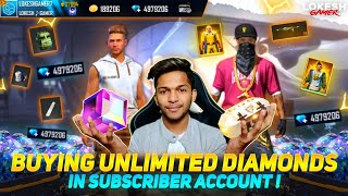 Buying Unlimited Diamonds Iฑ Subscribe Account First Time 😱😱😱 Garena Free Fire 2021