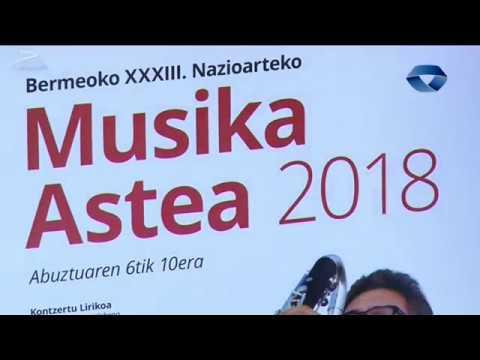 Musika Astearen XXXIII edizioa ospatuko dute abuztuaren 6tik 10era