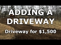Putting in a Driveway - Our Journey :: Episode #2