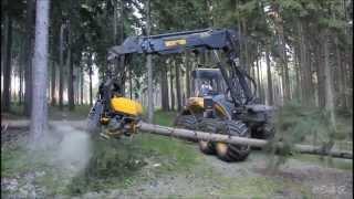 Как быстро спилить дерево. Профессиональная техника(Профессиональная техника для быстрого спила деревьев. Отличается высокой продуктивностю., 2014-01-14T22:48:30.000Z)