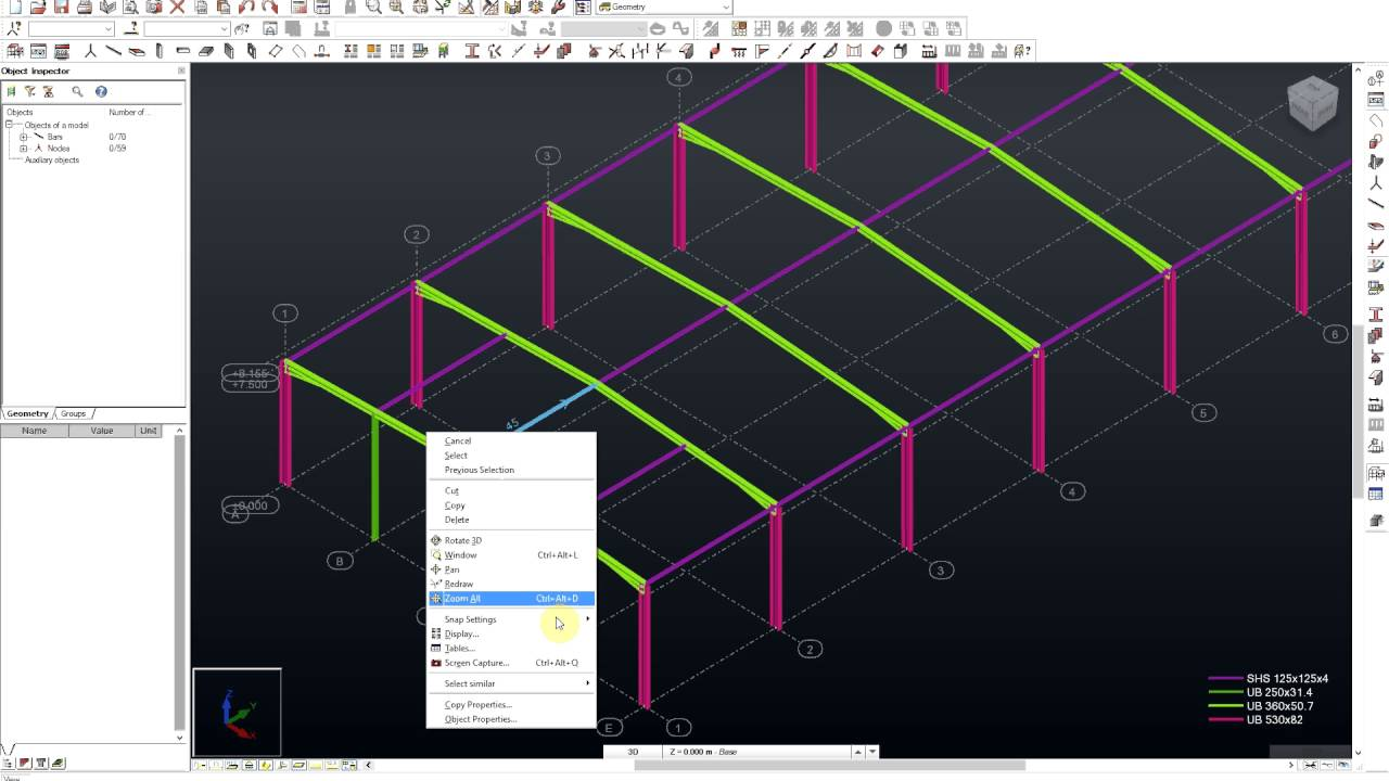 3d Portal Frame Building Tutorial In Autodesk Robot Structural Analysis Youtube