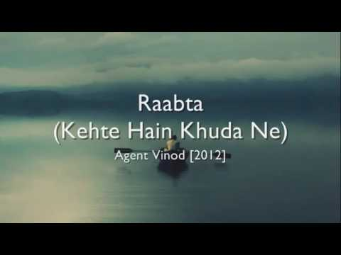 Raabta (female version) | English lyrical | kehte Hain khuda ne
